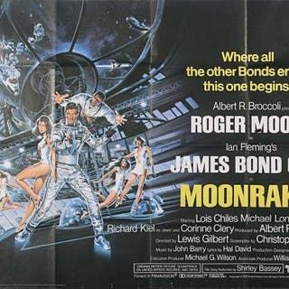 Lot #170 - JAMES BOND: MOONRAKER (1979) - UK Quad Poster 1979