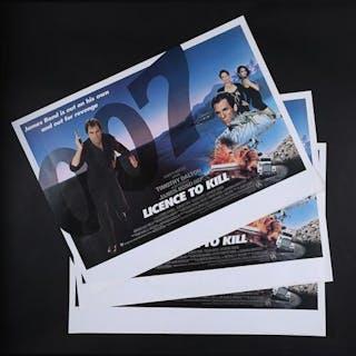 Lot #171 - JAMES BOND: LICENCE TO KILL (1989) - Three UK Quad Posters 1989