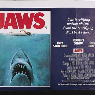 Lot #180 - JAWS (1975) - UK Quad Poster 1975