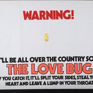 Lot #210 - THE LOVE BUG (1968) - UK Quad Poster 1968