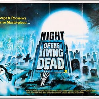 Lot #265 - NIGHT OF THE LIVING DEAD (1968) - UK Quad Poster 1980 Re-Release