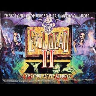 Lot #292 - EVIL DEAD II (1987) - UK Quad Poster 1987