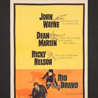 Lot #343 - RIO BRAVO (1959) - US Insert Poster 1959