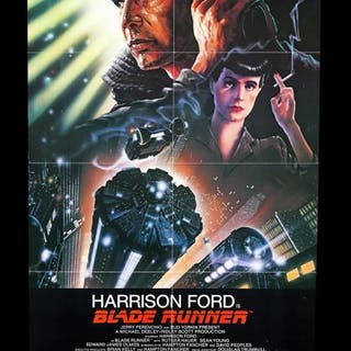 "Lot #350 - BLADE RUNNER (1982) - US One-Sheet ""International"" Poster 1982"