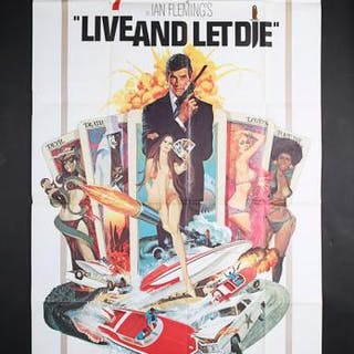 """Lot #140 - JAMES BOND: LIVE AND LET DIE (1973) - US Three-Sheet """"West"""