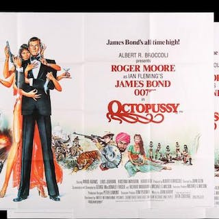 Lot #157 - JAMES BOND: OCTOPUSSY (1983) - Two UK Quad Posters 1983