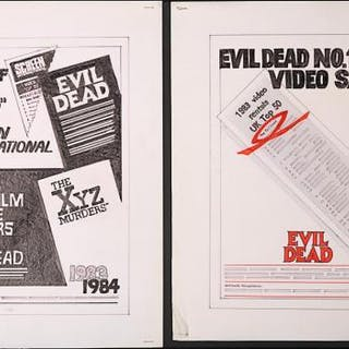 Lot #294 - THE EVIL DEAD (1981) AND THE XYZ MURDERS AKA CRIMEWAVE