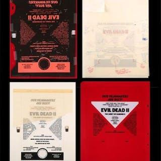 Lot #295 - EVIL DEAD II (1987) - US Original Concept Trade Ad Artworks