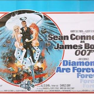 Lot #137 - JAMES BOND: DIAMONDS ARE FOREVER (1971) - UK Quad Poster 1971