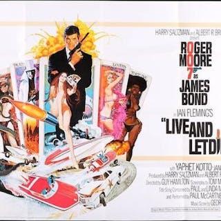Lot #139 - JAMES BOND: LIVE AND LET DIE (1973) - UK Quad Poster 1973