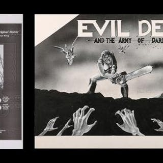 Lot #293 - EVIL DEAD II (1987) - US Original Concept Trade Ad Artwork