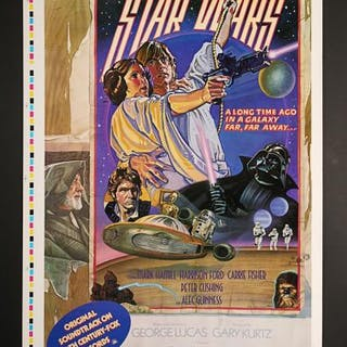 Lot #393 - STAR WARS: EPISODE IV: A NEW HOPE (1977) - US One-Sheet