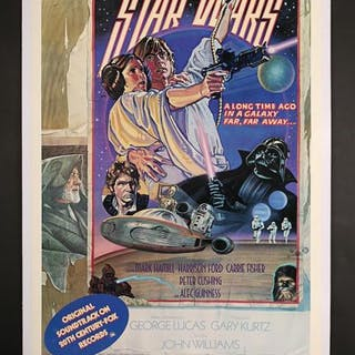 Lot #398 - STAR WARS: EPISODE IV: A NEW HOPE (1977) - US One-Sheet
