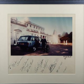 "Lot #125 - JAMES BOND: GOLDFINGER (1964) - Autographed ""Oddjob"" Photo 1981"