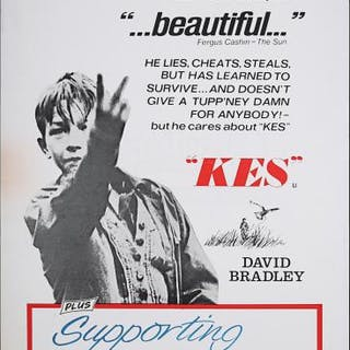 Lot #186 - KES (1969) - UK Double-Crown Poster 1969