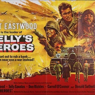 Lot #239 - KELLYS HEROES (1970) - UK Quad Poster 1970