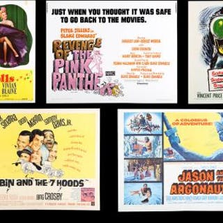 Lot #360 - VARIOUS PRODUCTIONS - Five US Half-Sheet Posters 1955-78