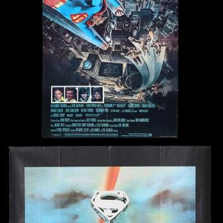 Lot #367 - SUPERMAN (1978) AND SUPERMAN II (1980) - Two UK Posters 1978-80