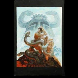 Lot #211 - CONAN THE BARBARIAN (1982) - Hand-Painted Ron Cobb Conan