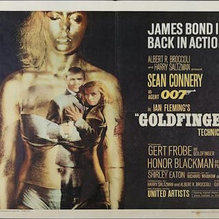Lot #276 - GOLDFINGER (1964) - US Half-Sheet Poster, 1964