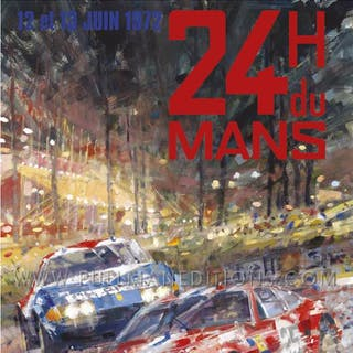 1972 Le Mans 24 Hours Poster
