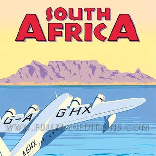 South Africa, Table Mountain – Imperial Airways Poster