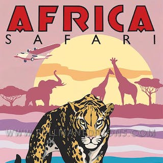 Africa Safari – Imperial Airways Poster