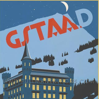 Gstaad: 'Palace Hotel – Night' Poster