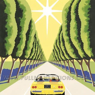 1974 Ferrari 365 GTS/4 – Route du Soleil Poster