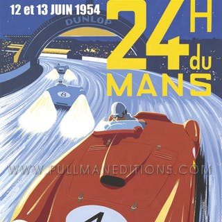 1954 Le Mans 24 Hours Poster