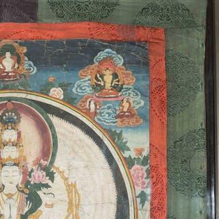 Thangka der Avalokiteshvara Sahasra-Bhuja
