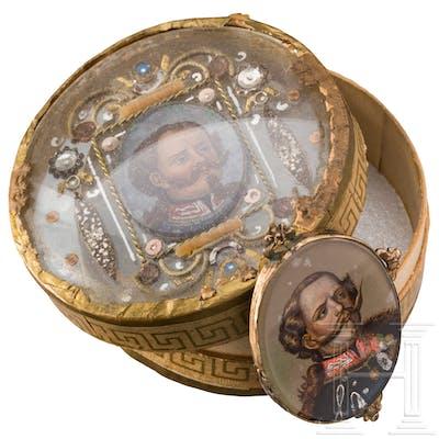 König Victor Emanuel II. (1820-78) - Dose und Medaillon