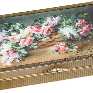 A French gilt silver box, 19th century