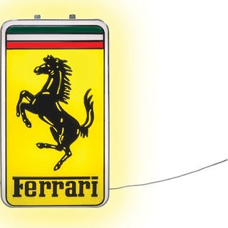 Ferrari Illuminated Sign classic car