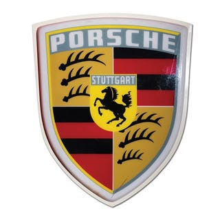 Porsche Dealership Large Plastic Sign classic car