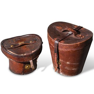 English Leather Hat Boxes classic car