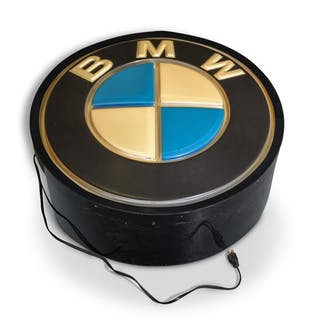 BMW Lighted Round Sign classic car