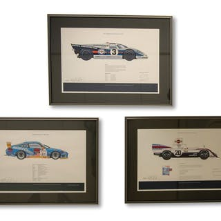 Porsche Race Car Signed Prints by Jeff Stapleton classic car