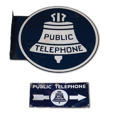 Public Telephone Signs classic car