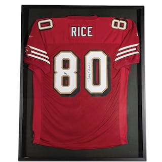 Jerry Rice San Francisco 49ers Autographed Jersey classic car