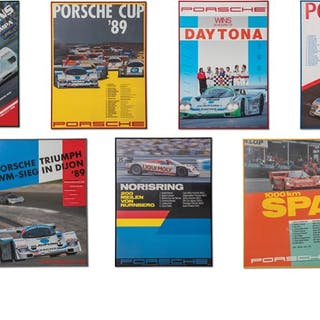 Porsche 962 C Racing Framed Posters classic car