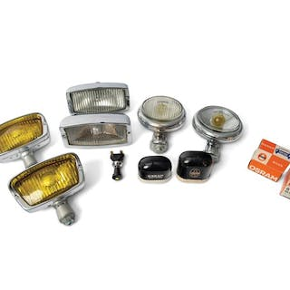 Accessory Fog Lamps and Osram Spare Bulb Containers classic car