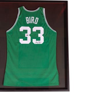 Larry Bird Boston Celtics Autographed Jersey classic car