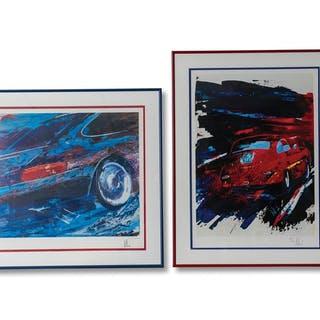 Porsche 356 and 911 Carrera Limited Edition Prints classic car