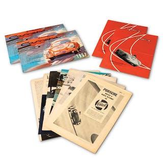 Porsche 356 Carrera and 550 Spyder Brochures and Articles classic car