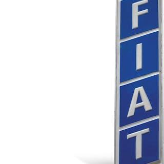 Fiat Dealership Large Sign  classic car