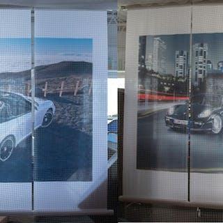 Porsche 911 Carrera Cabriolet and Cayman Dealership Banners classic car