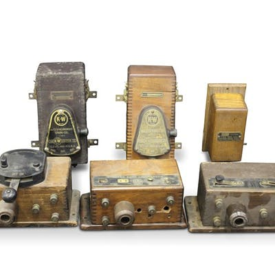 Coil Boxes, including Atwater Kent and K-W classic car