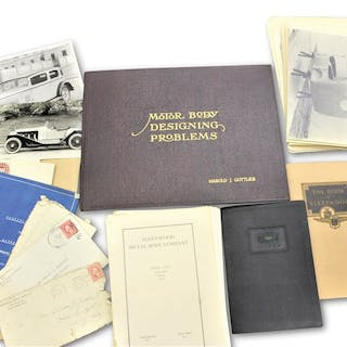 Fleetwood Coachwork Blueprints and Related Material classic car