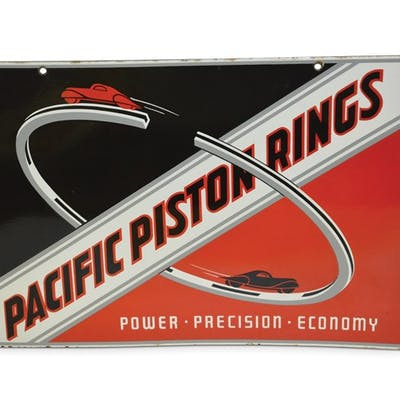 "Pacific Piston Rings ""Power-Precision-Economy"" with Cars Very Rare"